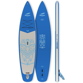 Indiana SUP 11'6 Family Pack with 3-piece Fibre/Composite Paddle, blauw/grijs